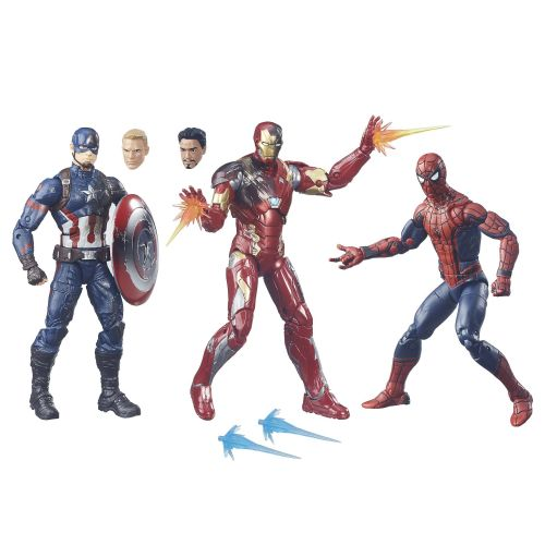 Marvel Legends Civil War Captain America 3 Pack